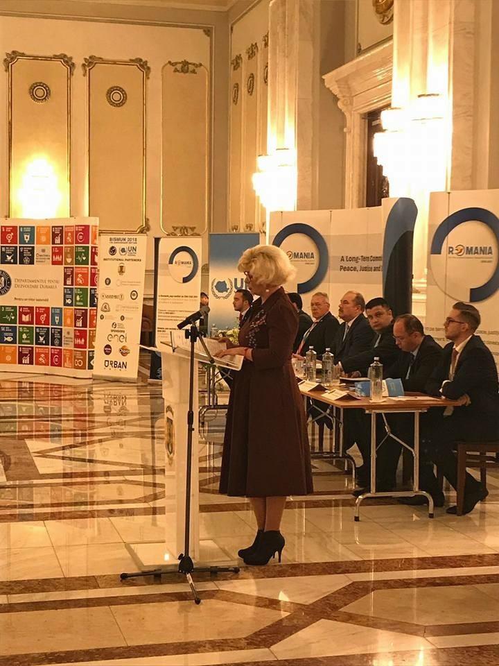 Secretarul de stat al ANES, Grațiela Drăghici, a participat la deschiderea oficială a Conferinței Internaționale  a UN Youth Romania – BISMUN 2018