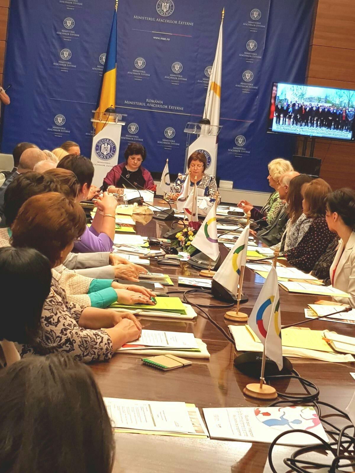 """Astăzi, secretarul de stat al ANES, Grațiela Drăghici, a participat la evenimentul internațional organizat de Biroul Regional al OIF pentru Europa Centrală și de EST – BRECO- cu tema: """"Atelier regional sur l`égalité femme-homme""""."""