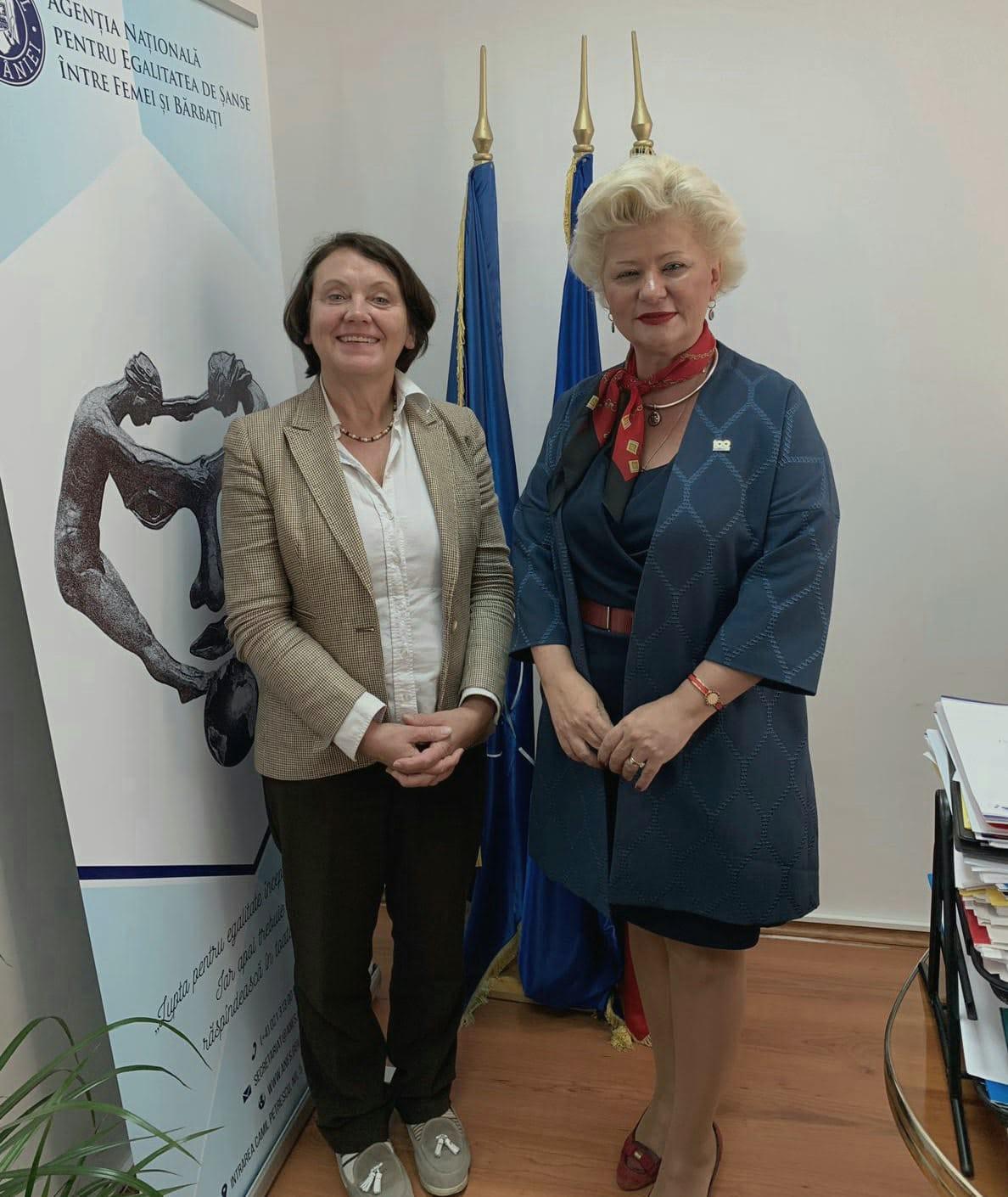 Astăzi, secretarul de stat al ANES, Grațiela Drăghici, a primit vizita delegației EIGE, condusă de directorul Virginija Lanbakk.