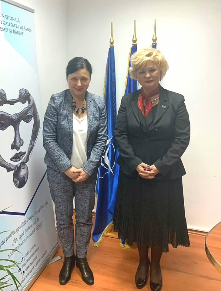 În data de 19 noiembrie 2018, secretarul de stat al ANES, Grațiela Drăghici, a primit vizita Comisarului european Věra Jourová, responsabil pentru Justiție, Consumatori și Egalitate de Gen.
