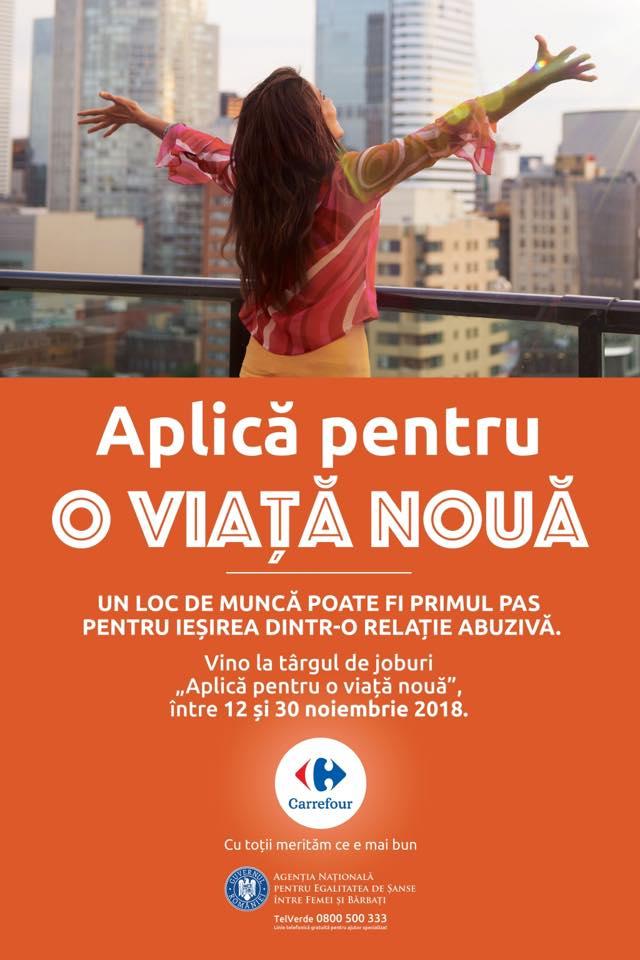 ANES și Carrefour România luptă împotriva violenţei domestice