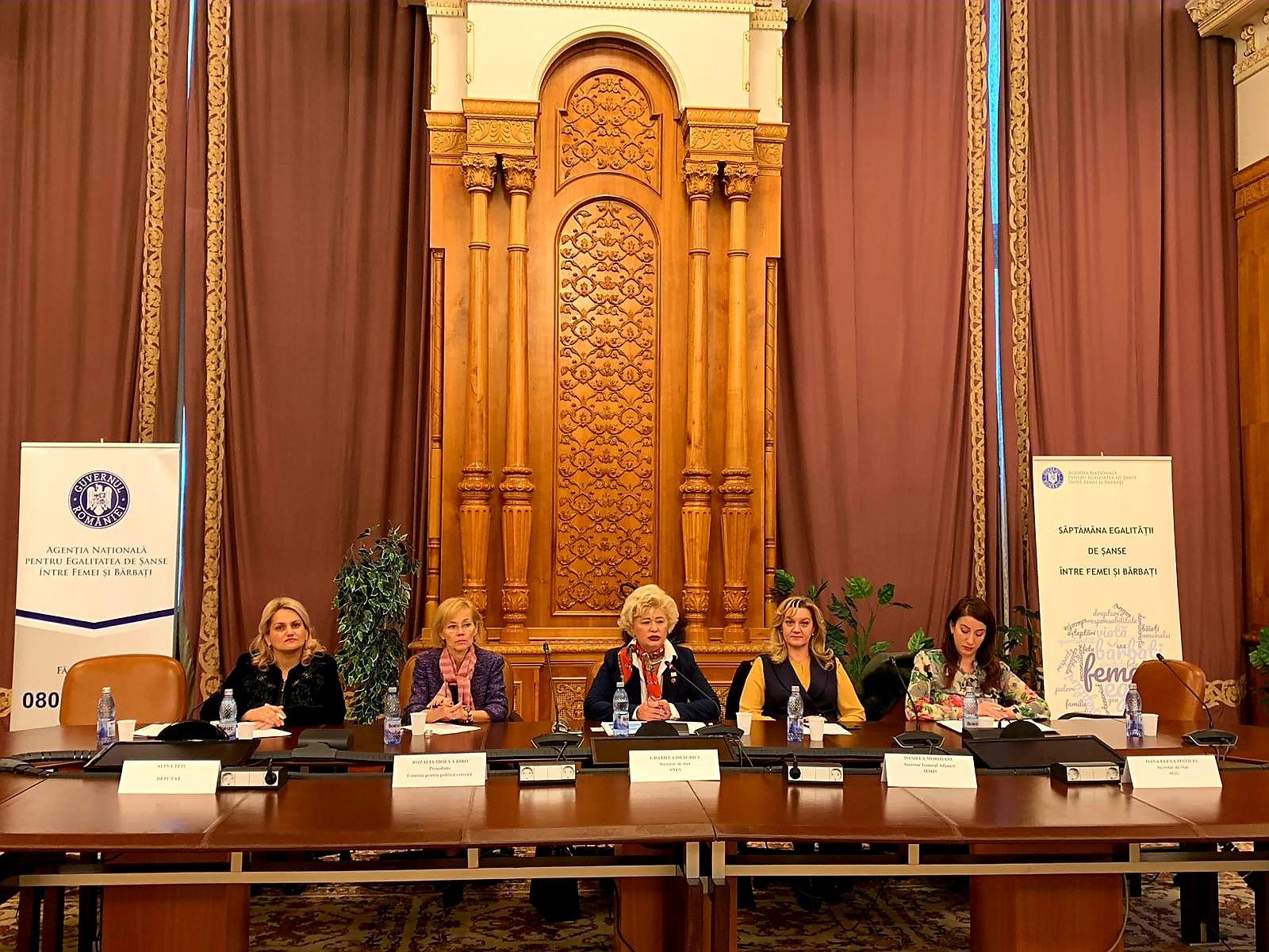 În data de 5 decembrie a.c., secretarul de stat al ANES, Grațiela Drăghici, a prezidat Reuniunea comună lărgită a Comitetului Interministerial pentru Prevenirea și Combaterea Violenței Domestice și a Comisiei Naționale în domeniul Egalității de Șanse între Femei și Barbati.