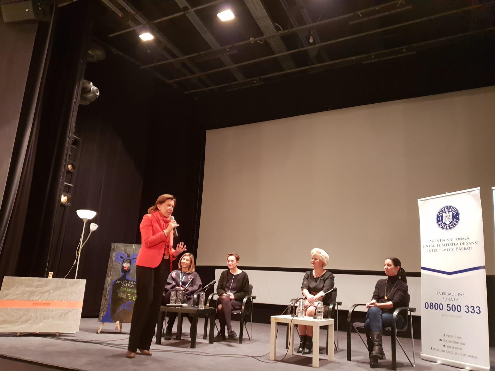 """Dezbaterea cu tema: """"VIOLENCES DOMESTIQUES: PERSPECTIVES FRANCO-ROUMAINES"""", 3 decembrie 2018"""
