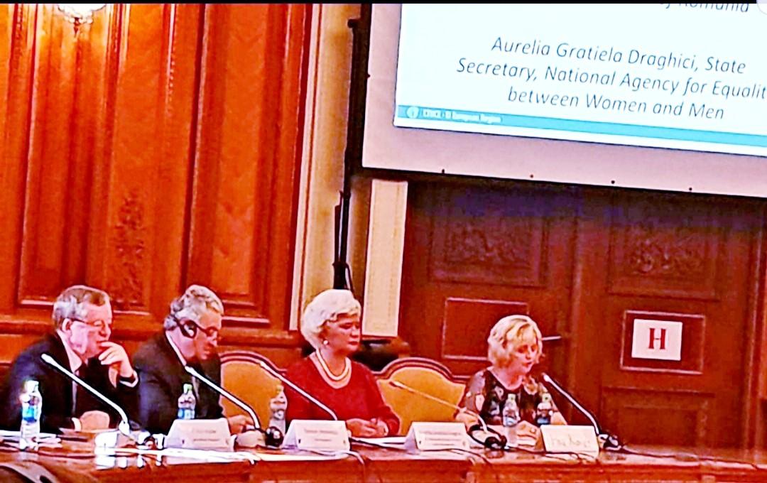 """Astăzi, secretarul de stat al ANES, Grațiela Draghici, a participat la deschiderea Conferinței Europene """"Sindicatele din Educație abordează domeniul Egalității de Șanse prin intermediul Dialogului Social"""", organizată la București, de ETUCE – """"European Trade Union Committee for Education"""", prezidată de doamna Christine Blower."""